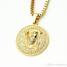 necklace gold jesus images Wholesale men jewelry gold plated jesus portrait necklace men 39 s jpg