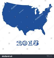 us map outline image 2018 on usa map outline blue stock vector 771238735