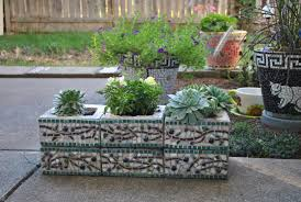garden cute picture of decorative rectangular greey mosaic tile