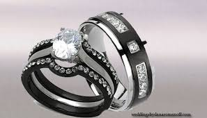 black wedding rings his and hers titanium wedding band sets his hers in many colour