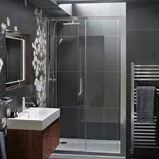 1200 Sliding Shower Door Hydrolux 1200 Sliding Shower Door With Satin Chrome Frame And