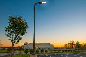 parking lot pole light fixtures pole installation