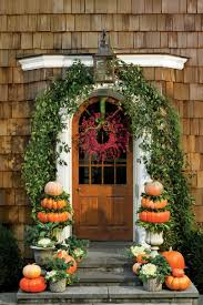 main door flower designs pumpkin ideas for your front door southern living