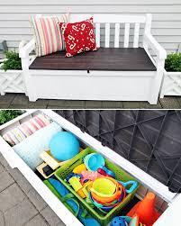 Diy Outdoor Storage Bench Seat by Best 25 Deck Box Ideas On Pinterest Blanket Box Pallet Chest