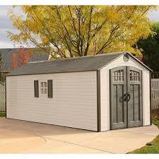 lifetime 8 u0027 x 20 u0027 outdoor storage shed sam u0027s club