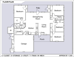 4 Bedroom 2 Bath House Plans Astounding Ideas Family Floor Plans 9 The Slater With Room Home
