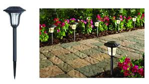 hton bay solar path lights home depot hton bay solar led pathway outdoor lights 6 pack only