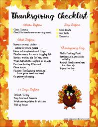 thanksgiving thanksgiving food list template printable