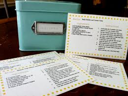 recipe cards tied up with string