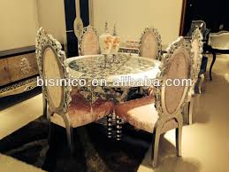 luxury classic round dining table and chairs elegant dining room
