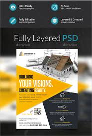construction company flyer 25 free psd ai vector eps format