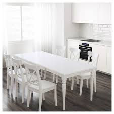 Extended Dining Table by Ingatorp Extendable Table Ikea