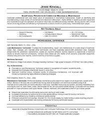 Maintence Resume Maintenance Resume Template Resume Ideas