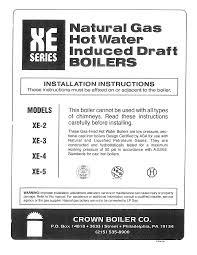 crown boiler boiler xe 4 user guide manualsonline com
