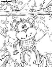 monkey coloring coloring pages animals 30th