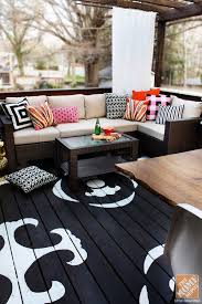 Covered Patio Decorating Ideas by Outdoor Decorating With Color From Kristin Of The Hunted Interior