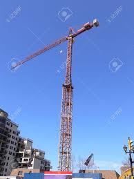 tall crane 60814a tall crane on an construction side in burlington