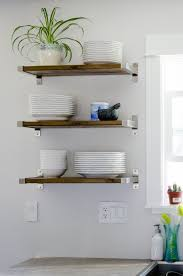 Open Metal Shelving Kitchen by 25 Best Diy Kitchen Shelves Ideas On Pinterest Open Shelving