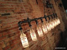 bar decor industrial style bottle l jim beam chandelier steunk