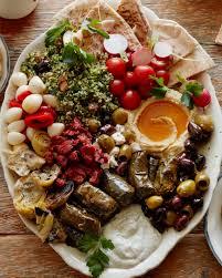 vegetarian mezze platter from www whatsgabycooking com