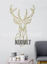 compare prices on wall sticker geometry online shopping buy low multicolor geometry deer animal wall stickers home interior decoration living room bedroom wall flat wall decals