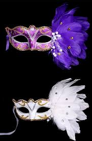 masquerade masks with feathers 2018 pearl embellished party feather masquerade mask purple in