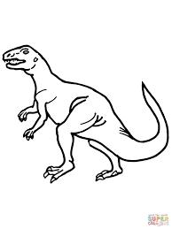 teratosaurus triassic dinosaur coloring page free printable