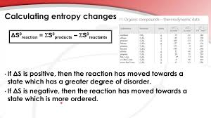 Standard Entropy Change Table 15 3 3 Calculate The Standard Entropy Change For A Reaction Hl