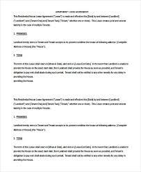 apartment rental agreement u2013 8 free word pdf documents download