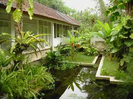 fascinating green in bali design with made entirely