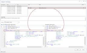 how to see the full history of a sql server database object under