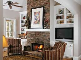 lr layout 2 low chairs next to fireplace tv tv in builtins next to