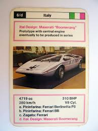1972 maserati boomerang the amazo effect top trumps car of the day ital design maserati