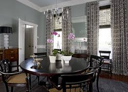Dining Room Curtains Layered Dining Room Curtains Design Ideas