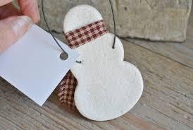 salt dough snowman ornament cookie dough creations