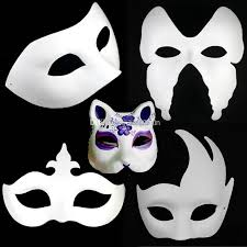 party mask 8 designs costume party mask paper pulp mask diy self