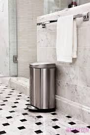 Small Bathroom Trash Can Bathroom Accessories Bathroom Trash Cans 2 Tips For Choosing