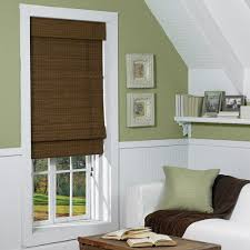 mesmerizing woven wood shades bamboo material maple finish inside