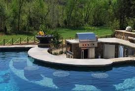 Insanely Clever Design Ideas For Your Outdoor Kitchen Pool - Backyard designs with pool and outdoor kitchen