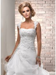 lace wedding dress with cap sleeves beach wedding dress