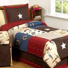 Cowboy Bed Sets Sweet Jojo Designs 200 Thread Count West Cowboy Bedding