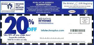 Bed Bath And Beyond Online Bath Beyond 20 Percent Off Coupon