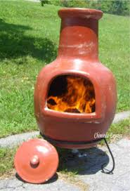 Clay Fire Pit Exterior Design Charming Orange Clay Chiminea Outdoor Fireplace