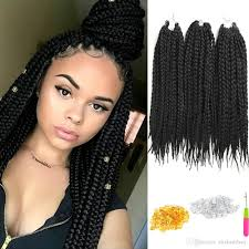 braids crochet 2018 6 pack crochet hair extensions box braids 18inch re braiding