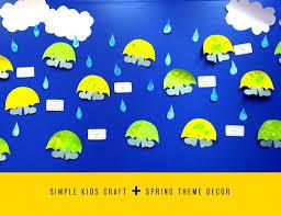 rain men spring theme simple craft for kids spring pinterest