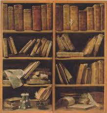 book shelf with music writings 1730 giuseppe maria crespi