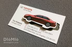 Car Name Card Design Toyota Business Card Diomioprint