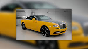 gold rolls royce rolls royce wraith in golden yellow is another bespoke creation