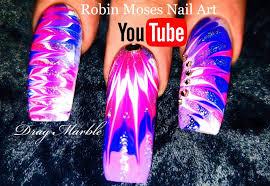 robin moses nail art lavender and pink no water dry drag marble