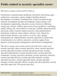Resume For Security Job by Best Ideas Of Security Specialist Resume Sample About Summary